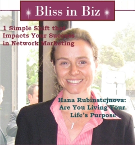 Hana Rubinstejnova in Bliss in Biz Magazine